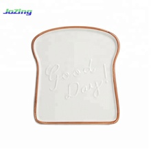 New Products Toast Shape Sublimation Ceramic Mini Loaf <strong>Plate</strong>