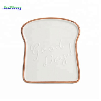 New Products Toast Shape Sublimation Ceramic Mini Loaf Plate