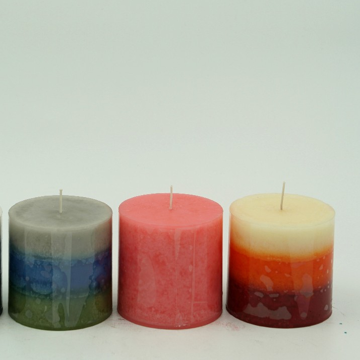 Unique design fragrance paraffin color birthday wedding candle