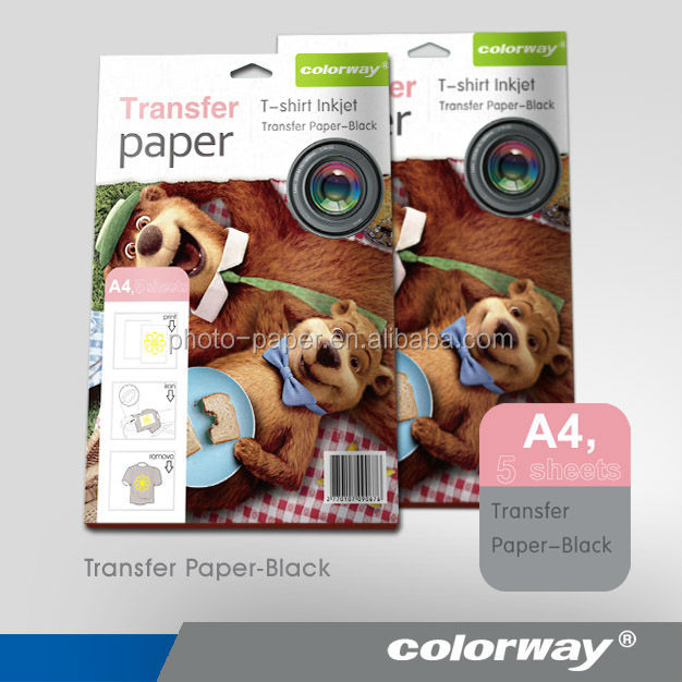 A4 forever dark transfer paper for dark color cotton t-shirts