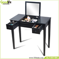 Table top with glass vanity table set for china flat pack homes furniture