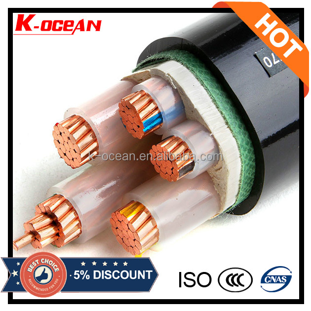 Standard Copper Core XLPE Insulated PVC Sheathed Non Armoured Power Cable Sizes