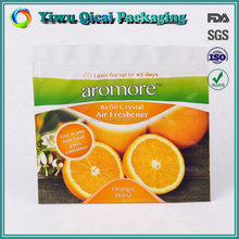 High Quality Food Grade Stand Up Pouch Mesh Fruit With Zipper Packaging Bags With Waterproof Plastic Material