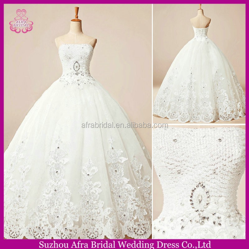 SW833 strapless ball gown discount bridal sale description of wedding dress