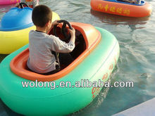 2013 hot sale PVC custom inflatable electric aqua bumper boat for kids and adults