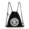 New arrival bunch pocket backpack sports travel cotton canvas drawstring bag