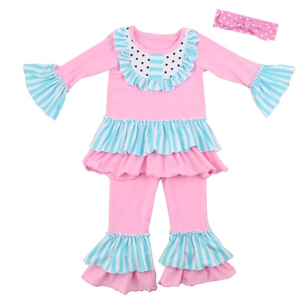 Bulk clothing for sale baby punjabi suits designs 3 pcs set children clothes smocked outfit little girls dress suits