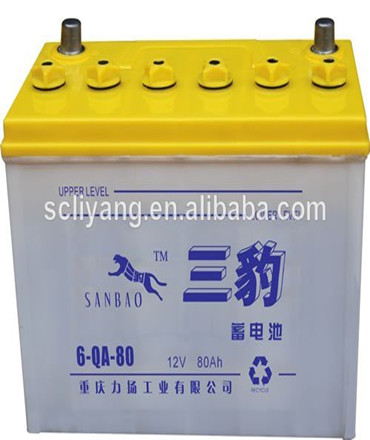 All kinds of battery products rechargeable lead acid dry charged 12V 80ah car battery