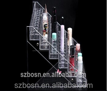 SGS approved hot sale 6 tiers acrylic cosmetic display cabinet with cosmetic display cabinet for sale form shenzhen
