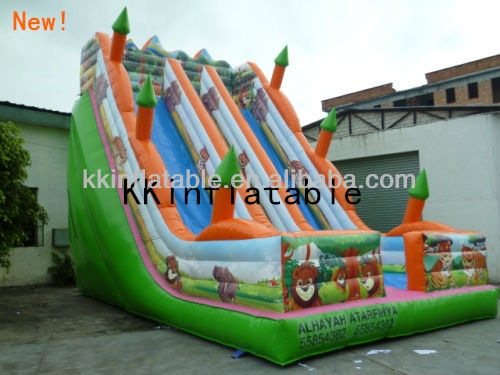 Jungle Theme dry <strong>slide</strong> inflatable stair <strong>slide</strong>