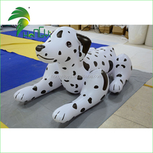 Giant Lying PVC Inflatable Cartoon Mascot , Lovely Inflatable Dalmatians , Giant Inflatable Dog