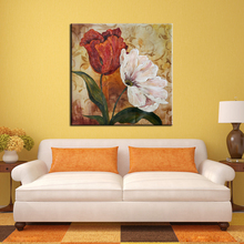New design handpainted color rose flower oil painting on canvas