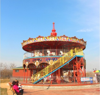 outdoor playground carousel with 68seats for sale