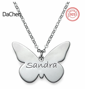 Custom name women jewelry butterfly animal necklace fashion design