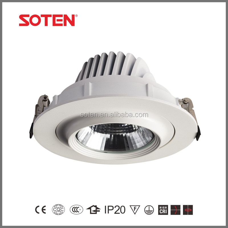 China manufacturer cob down light led recessed ceiling downlight 35W