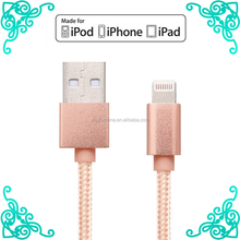 Super Durable USB Cable Metal Data and Sync Charging Cord for iPhone 7