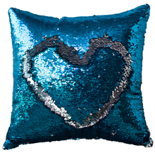 Manufacture new designs home textile mermaid DIY love reversible sequin pillow