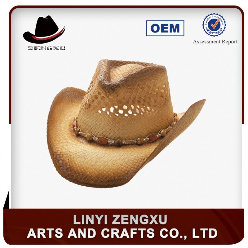 Wholesale/woven paper drinking straw hat with bowknot
