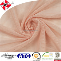 Chuangwei Textile Light nylon powernet solid plain nude mesh fabric
