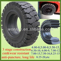 Low Sea Freight 16x6-8 250-15 6.00-9 7.00-12 Solid Rubber Tires For Forklift