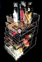 Acrylic Cosmetics Organizer Box with 5 Drawers Clear Acrylic Jewelry Chest with Drawers
