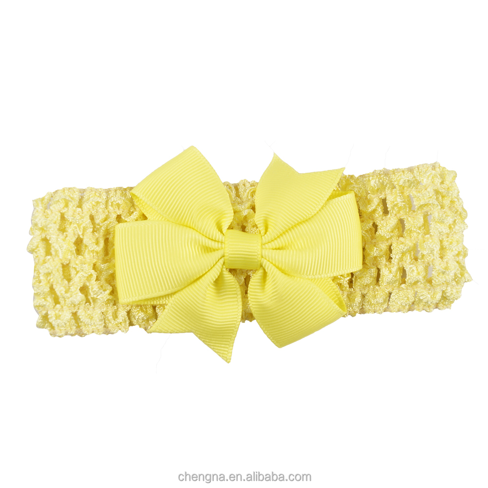 Lovely High Quality Knitted Headband With Bow For Baby Girls CNHD-1505042Q