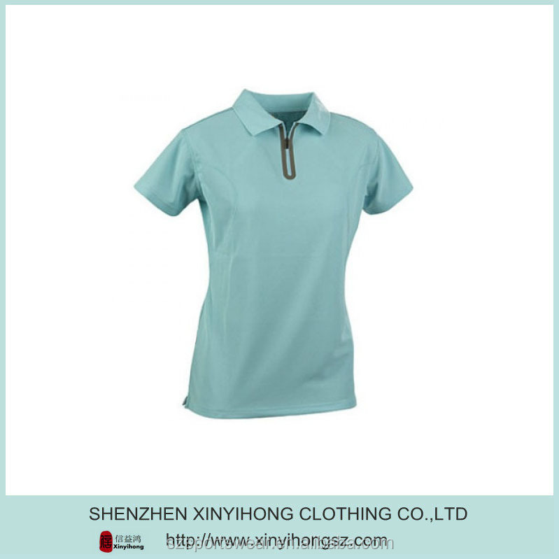 custom made designer clothing/Quick dry ladies dry fit golf polo