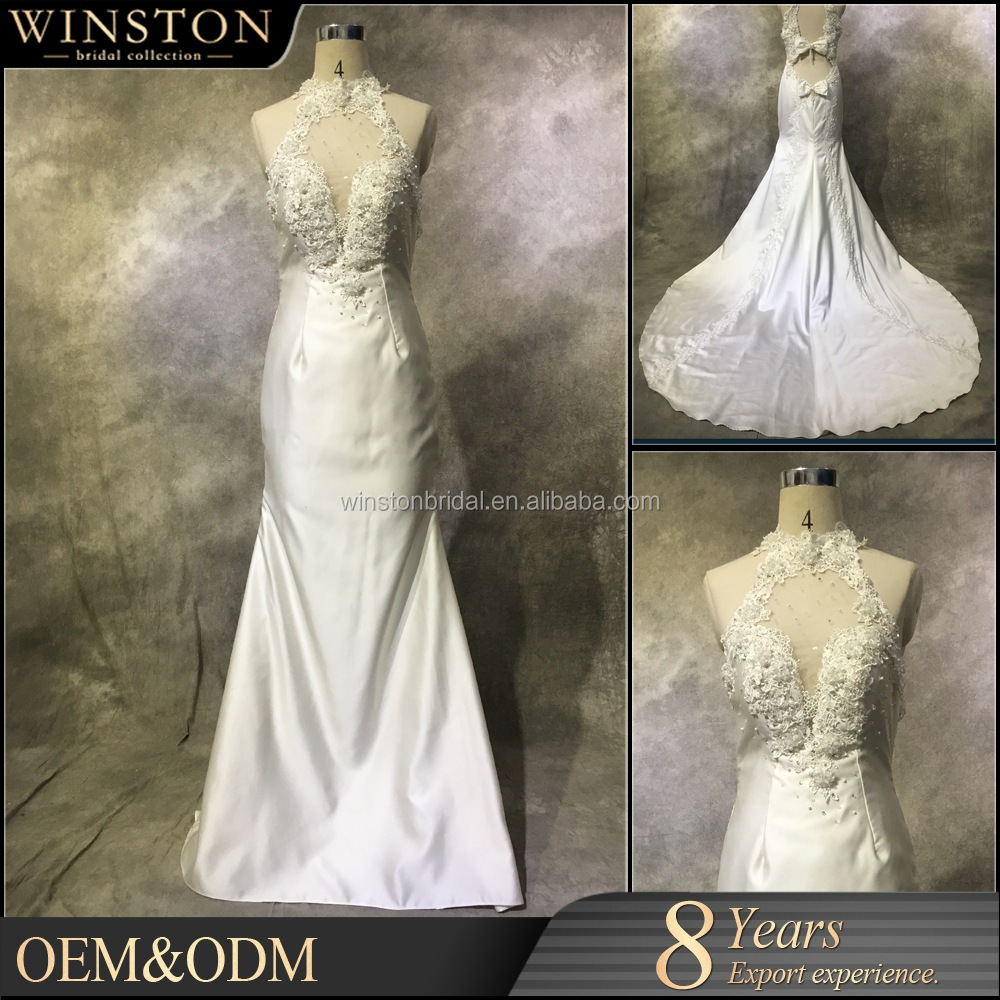 OEM manufacturers corset high low wedding gowns