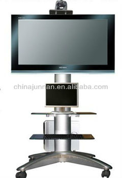Conference system/Outdoor movable /adjustable floor lcd / led TV stand series with kinds of screens for different size TV