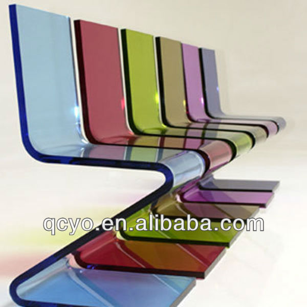 Fashion colorful acrylic z chair