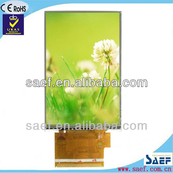 3.5 inch tft lcd panel for mobile phone 320x480 dots HVGA with RTP Module