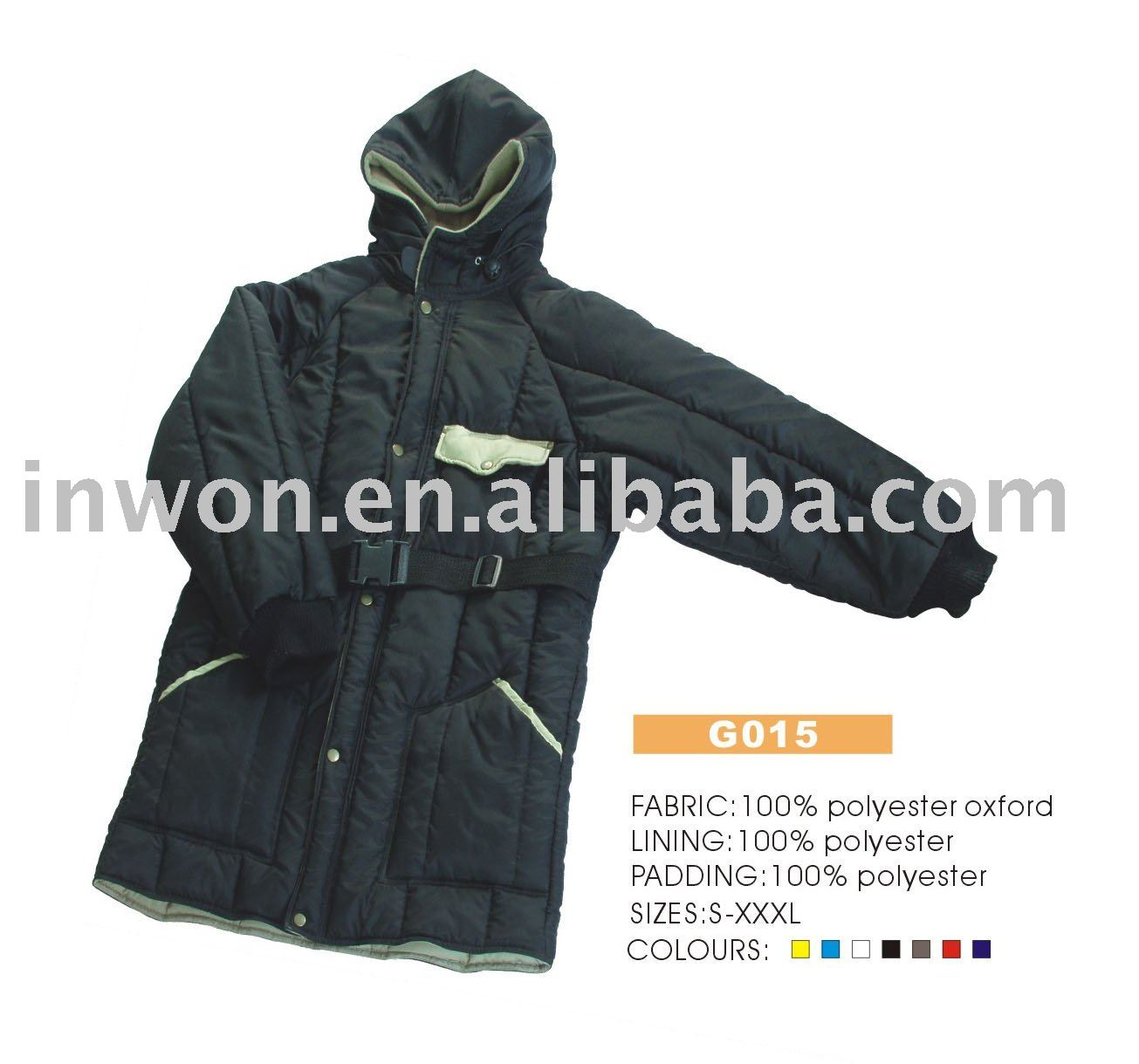 breathable waterproof windproof heavy padding long out door down coat