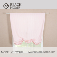Custom made polyester printed valance window curtains for baby drape