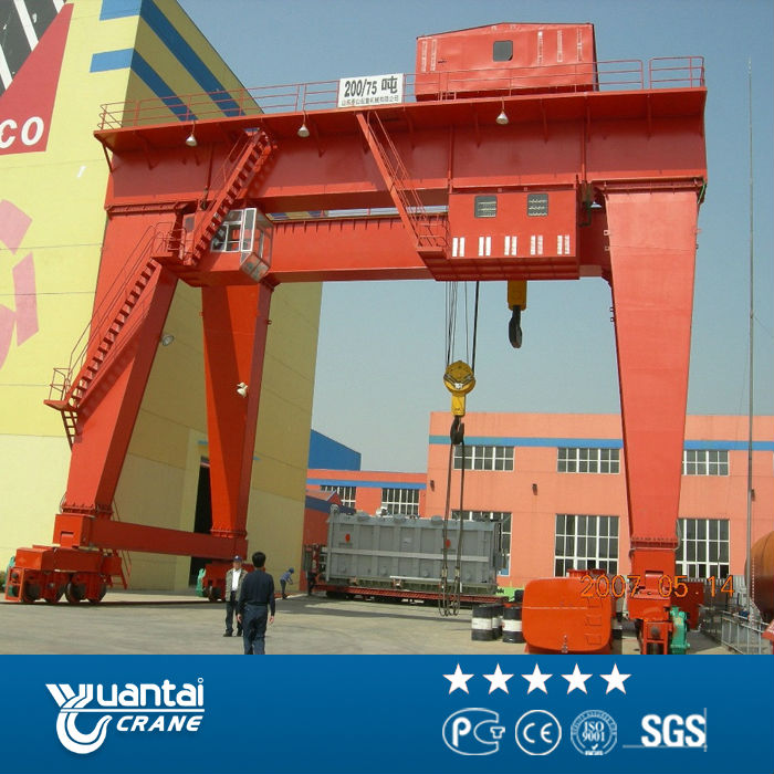 150 tons gantry crane with cantilever beam