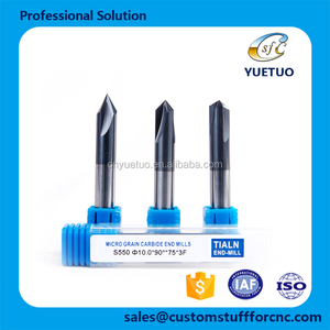 Solid Carbide Chamfer Cutting tool positioning hole for metal chamfering