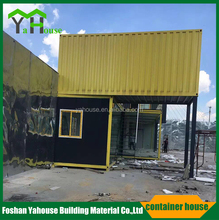 new arrival Flat top steel prefab cabin container house factory from China