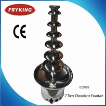 Stainless 7 Tiers Wedding Party Hotel Catering Commercial Chocolate Fountain