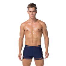 Male Solid Square Leg Surf Board Boxer Shorts Trunks Slim Wear Fitness Short for <strong>Men</strong>