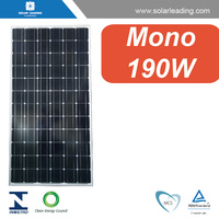 IEC certificated 190w solar panel kit connect to grid tie solar inverter for solar energy home system on grid