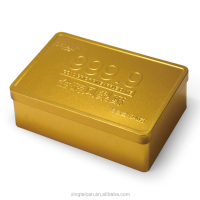 Custom Printed Golden Embossing Tin Box