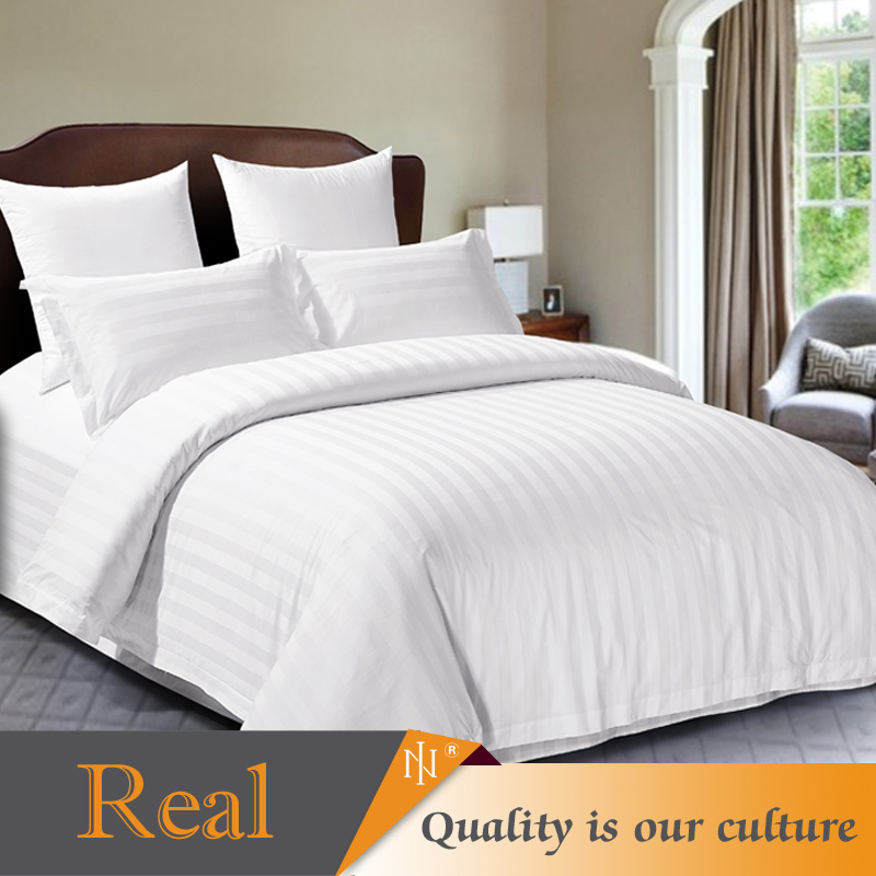 Satin white cheap hotel bed linen for all size hotel room