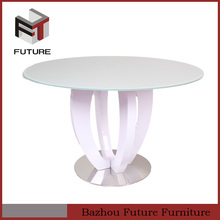 european style classic white wood dining table