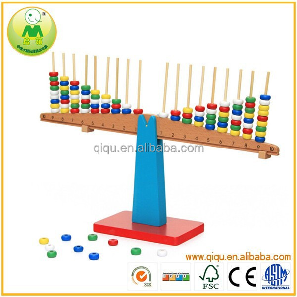 Child Interesting Toys Balance Arithmetic Group Wooden Trays Montessori