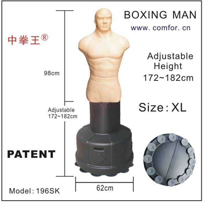 Adjustable kick boxing punch bags Cheap punching bag Boxing stand man