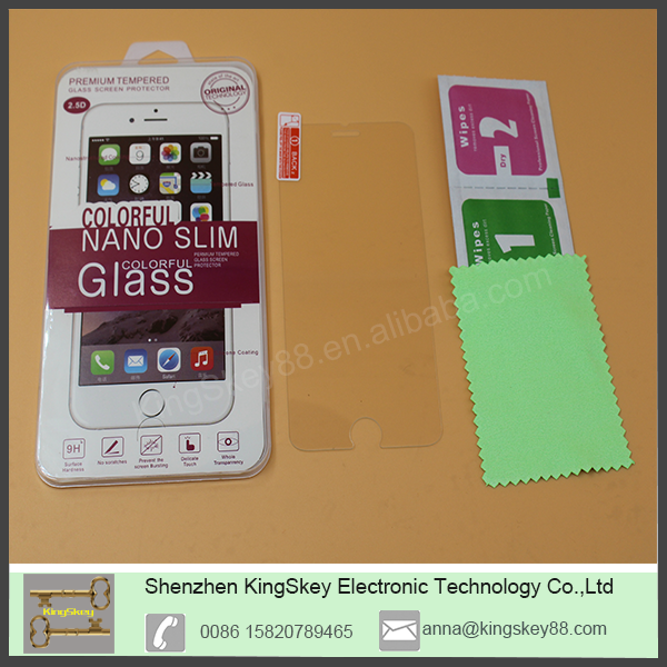 0.20mm Thickness Anti Explosion 2.5d tempered glass screen for iPhone 5/5s oem/odm (Glass Shield)