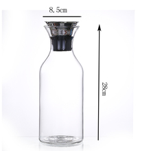 Hot selling quality glass pitcher jug with food grade silicone caps