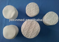 round cosmetic embossing cotton piece