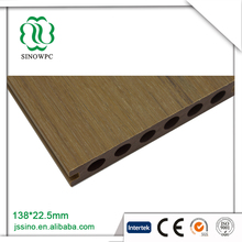 Recycling co extrusion solid ebony wood floor wpc decking