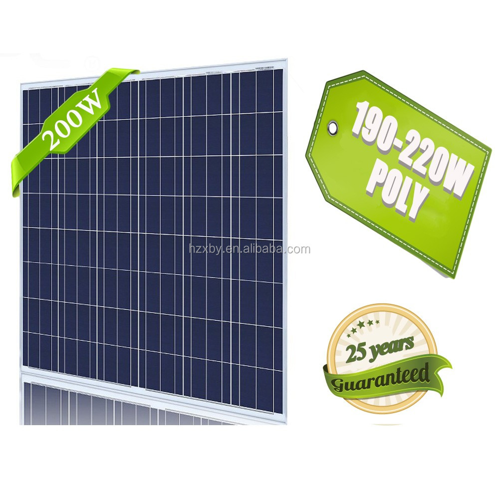 free shipping 2000 watt 200w poly high quality solar panels from china
