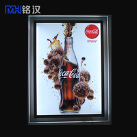 Led hanging fabric light box logo advertising sign board aluminum extrusion profile ,beer advertising acrylic crystal led light